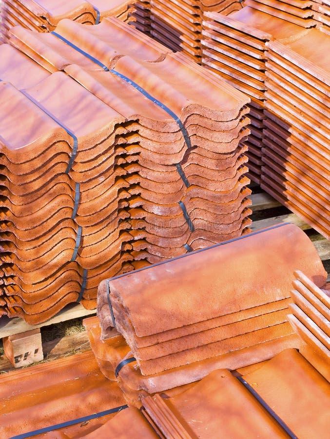 Ceramische daktegels stock foto's