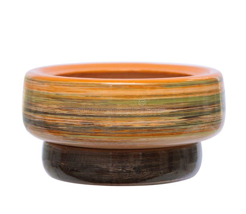 Ceramische geïsoleerdea bloempot royalty-vrije stock afbeeldingen