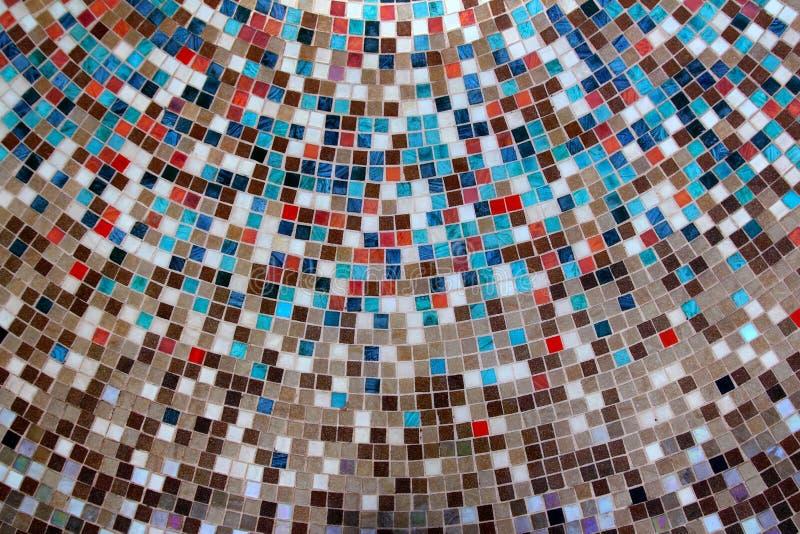 Ceramische het mozaïeksamenstelling van glas kleurrijke tegels royalty-vrije stock foto