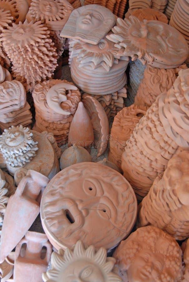 Ceramische inzameling stock fotografie