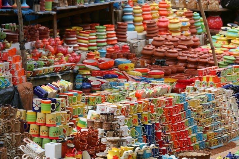 Ceramische koppen stock fotografie