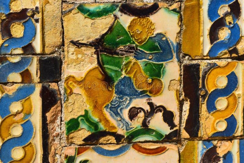 Ceramische kunst met Arabische invloed stock foto's