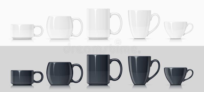 Ceramische mok voor thee en koffie stock illustratie