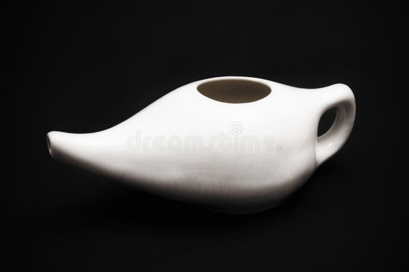 Ceramische netipot stock foto's