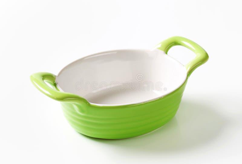 Ceramische Ovale Bakselschotel stock afbeelding