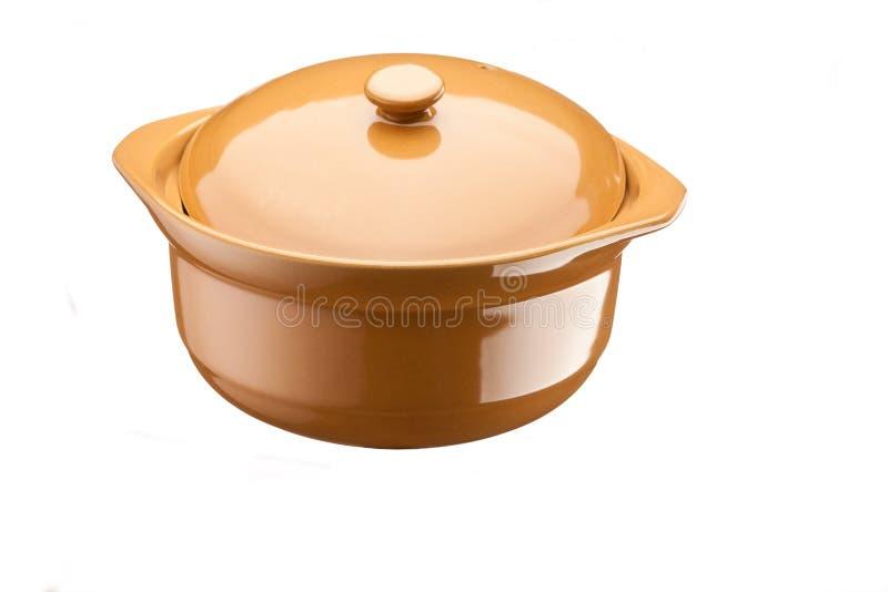 Ceramische pan stock afbeelding