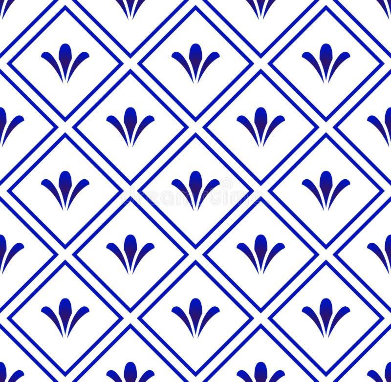Ceramische patroonachtergrond stock illustratie