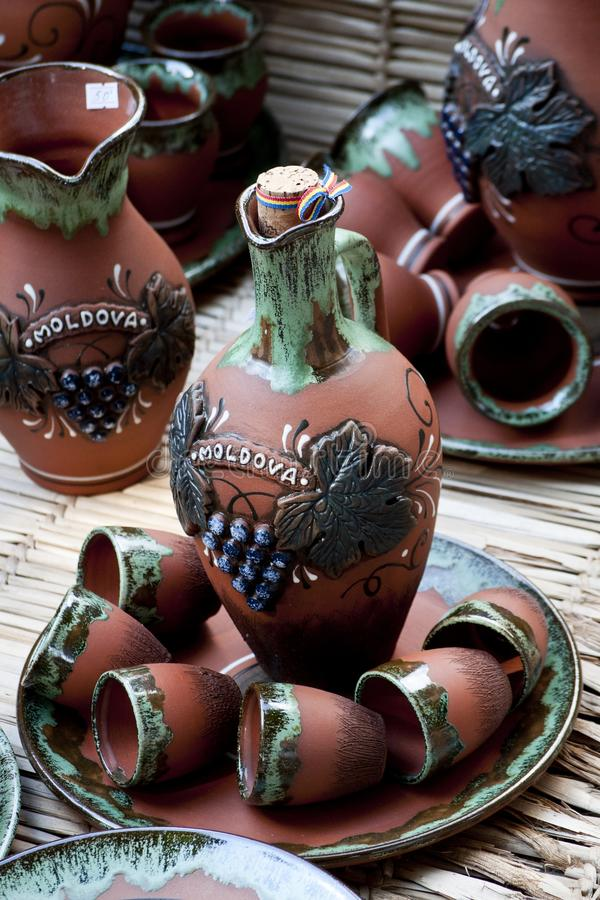 Ceramische potten royalty-vrije stock foto
