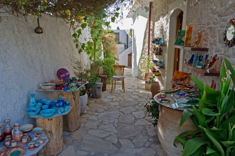 Ceramische winkel stock afbeelding