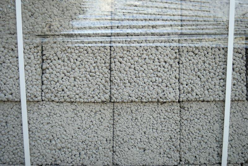 Ceramsite concrete blocks royalty free stock images