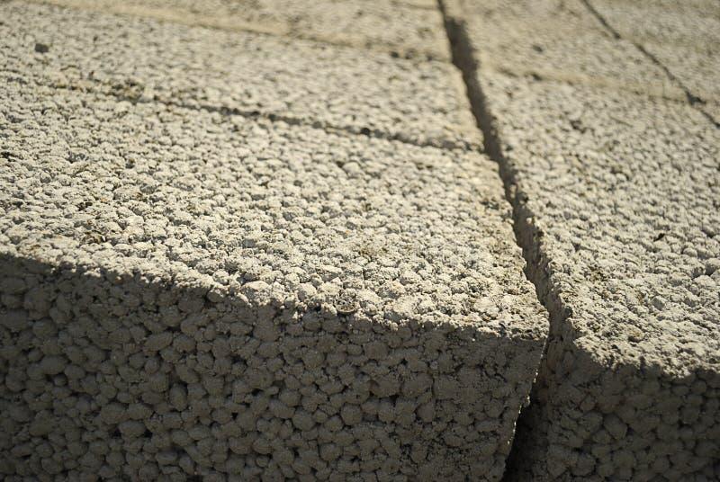 Ceramsite concrete blocks stock images