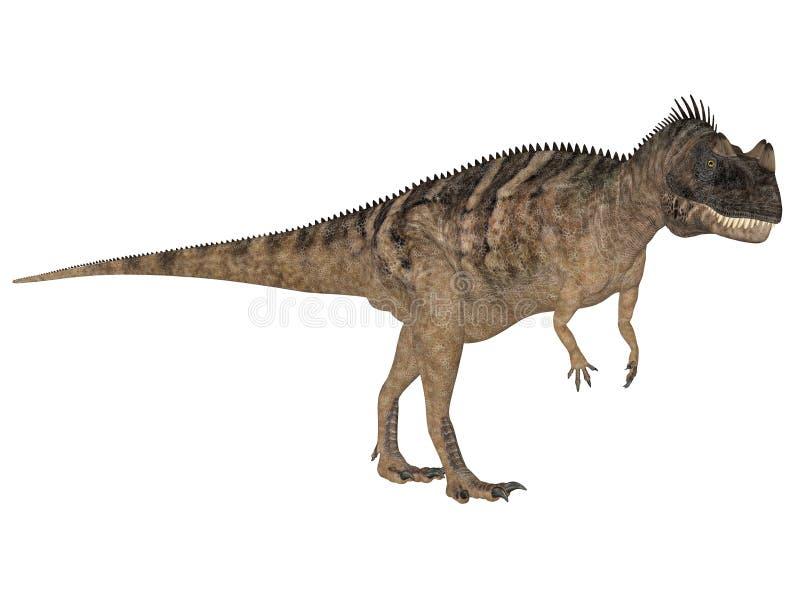 Ceratosaurus royalty illustrazione gratis