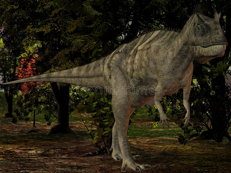 Ceratosaurus nasicornis-3D Dinosaur vector illustration