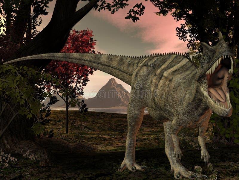 Ceratosaurus nasicornis-3D Dinosaur royalty free illustration