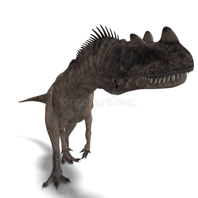 ceratosaurusdinosaur vektor illustrationer