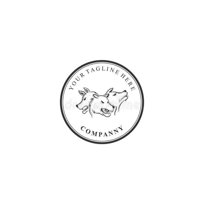 Cerberus, firma logo, chroni royalty ilustracja