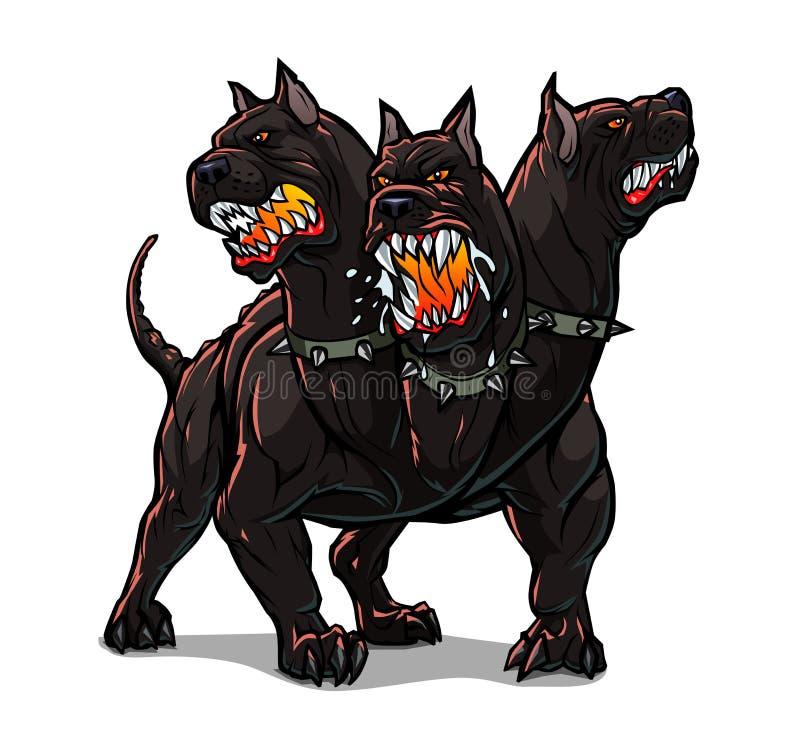 Download Cerberus stock vector. Illustration of aggression, aggressive - 39037111