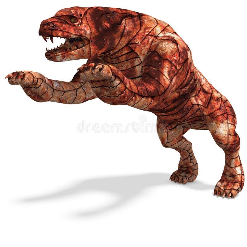 Cerberus - o cão do inferno ilustração stock