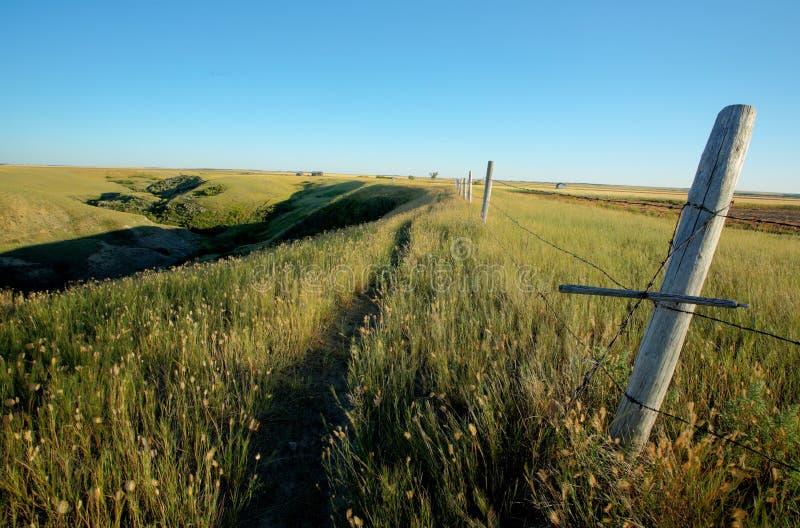 Cerc fora do coulee de Saskatchewan imagens de stock