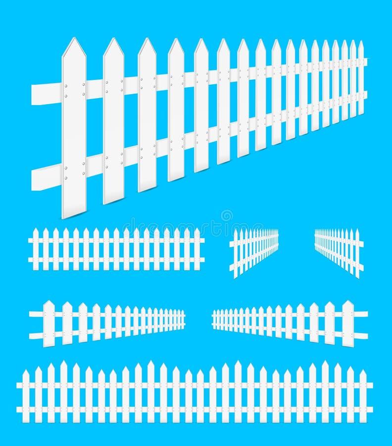 Cerca blanca stock de ilustración