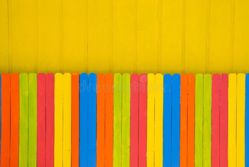 Cerca colorida brilhante imagem de stock