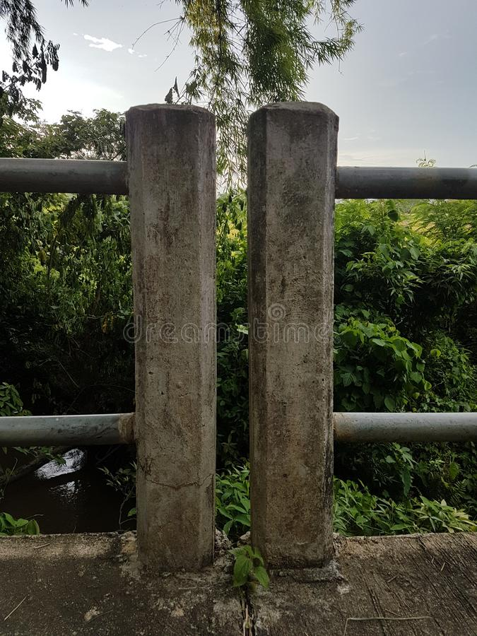 Cerca da coluna da ponte foto de stock royalty free