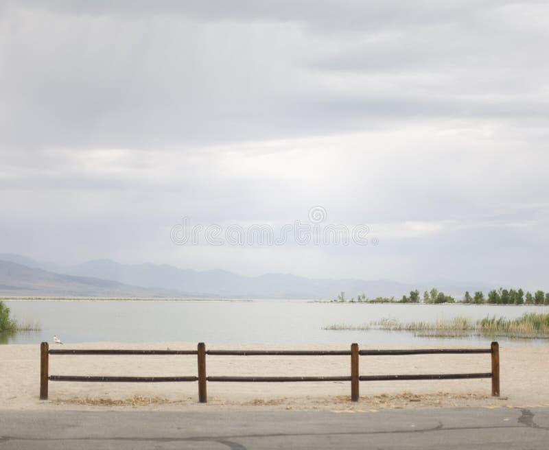 Cerca da costa do lago fotografia de stock