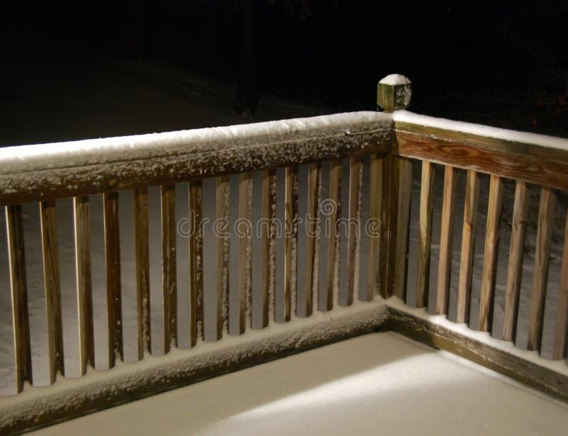 Cerca da neve foto de stock