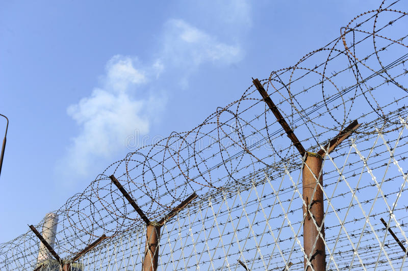 Cerca da prisão foto de stock