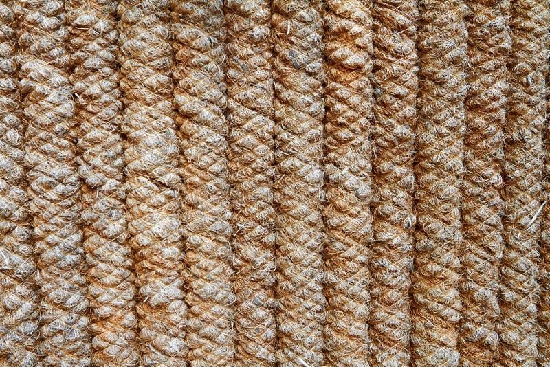 A cerca das cordas grossas cinzento-marrons imagens de stock