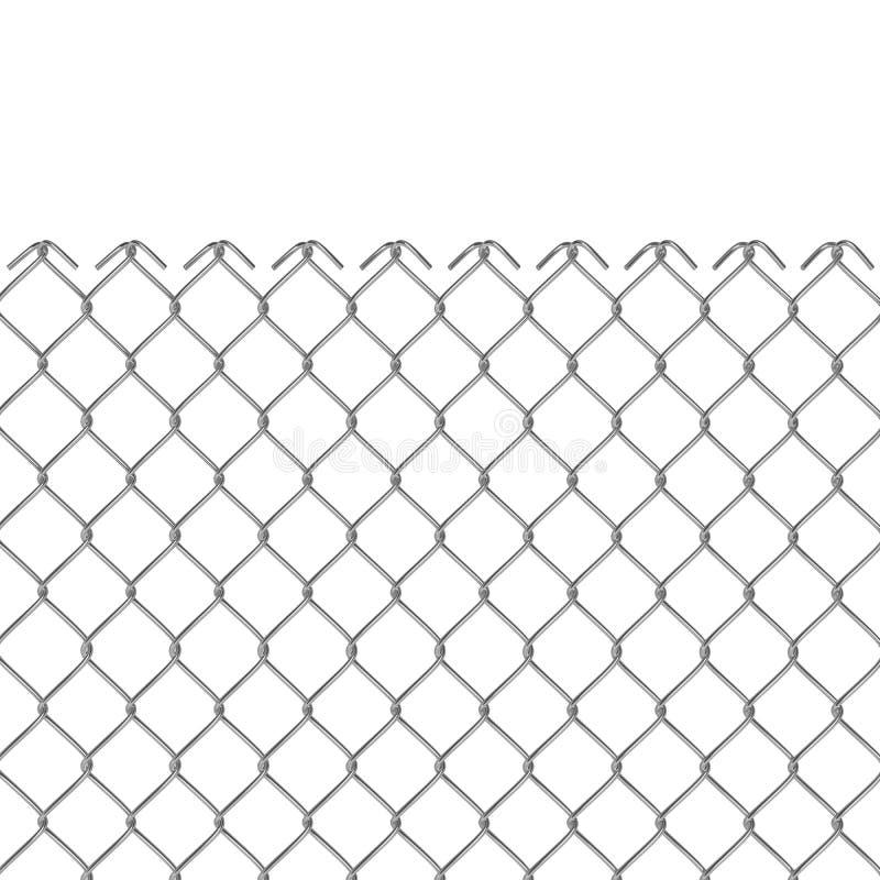 Cerca de alambre 3D ilustración del vector