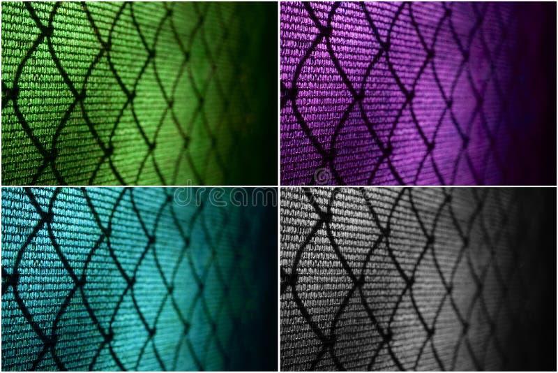 Cerca de alambre en el campo de tenis imagen de archivo