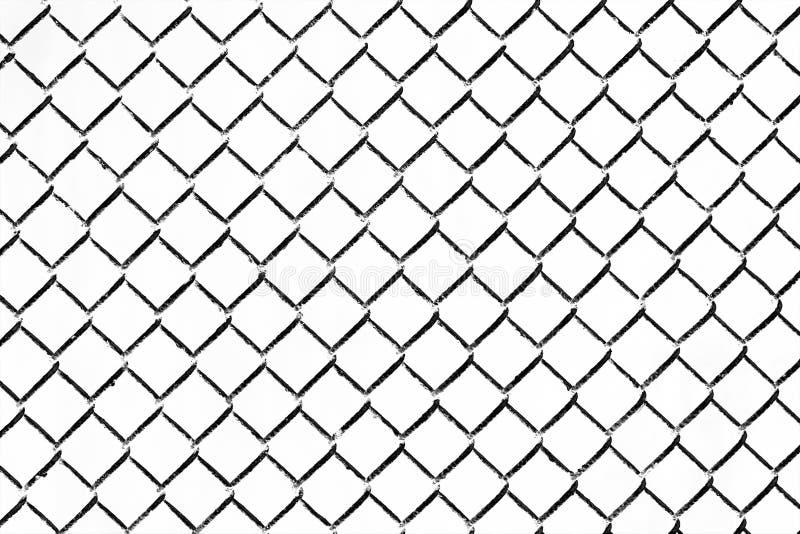 Cerca de cadena del hierro en el fondo blanco imagen de archivo