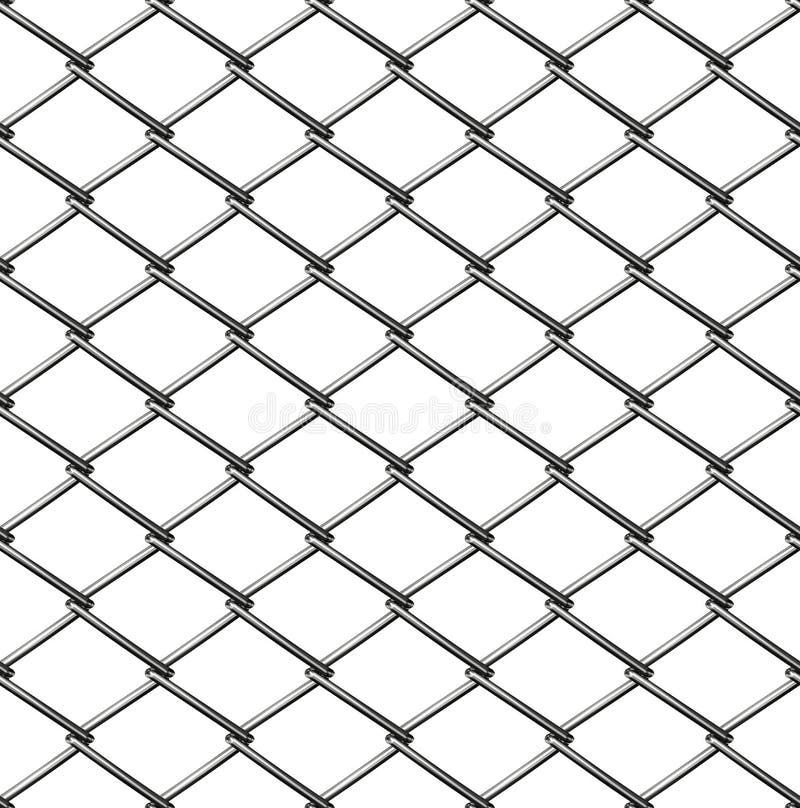 Cerca de Chainlink sem emenda ilustração stock