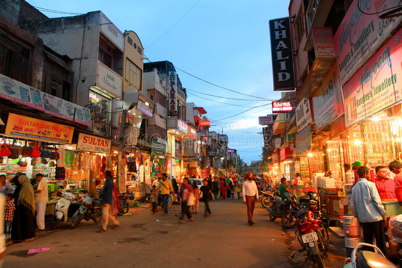 Cerca de Charminar en Hyderabad, la INDIA fotos de archivo libres de regalías