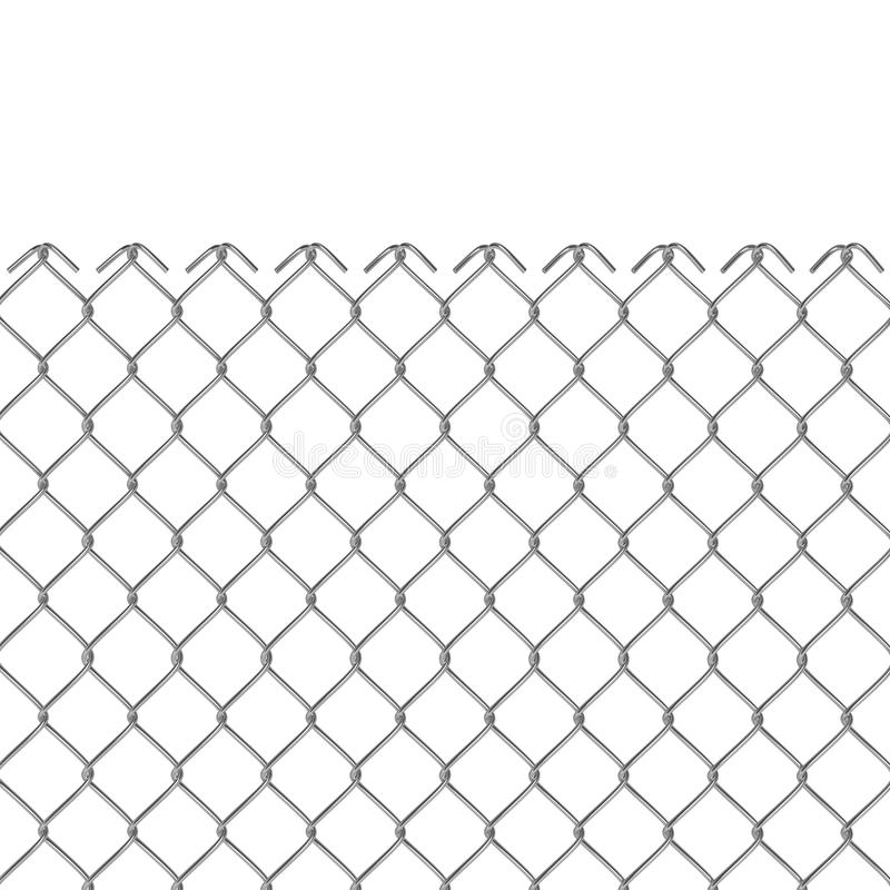 Cerca de fio 3D ilustração do vetor