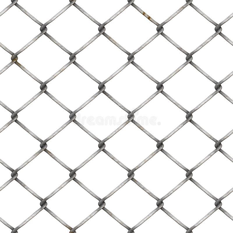 Cerca de la malla de alambre en el fondo blanco libre illustration