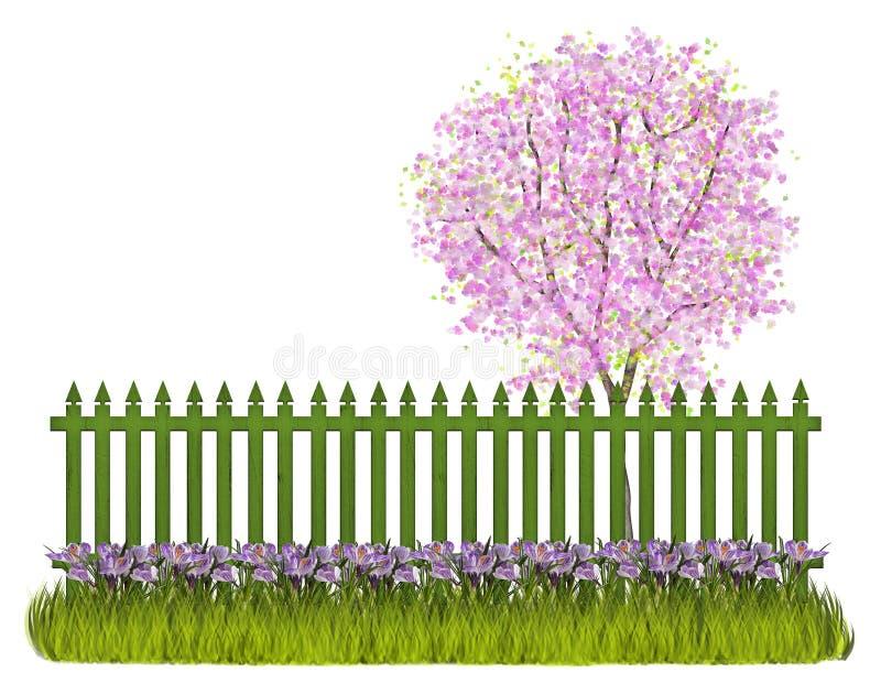 Cerca de la primavera libre illustration