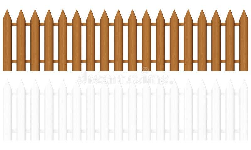 Cerca de madeira ilustração do vetor