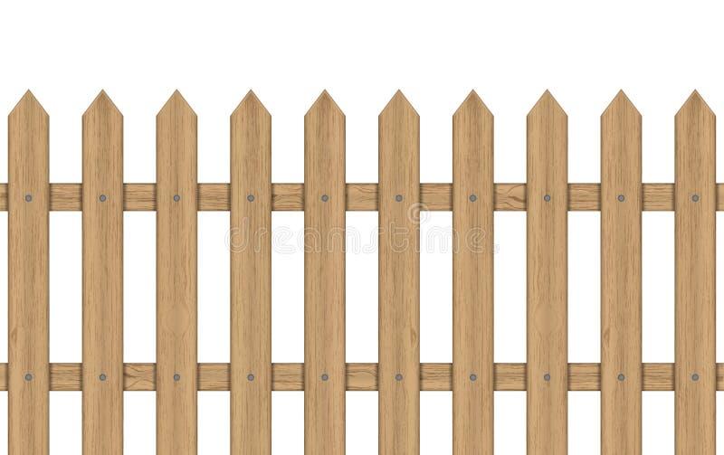 Cerca de madeira ilustração stock