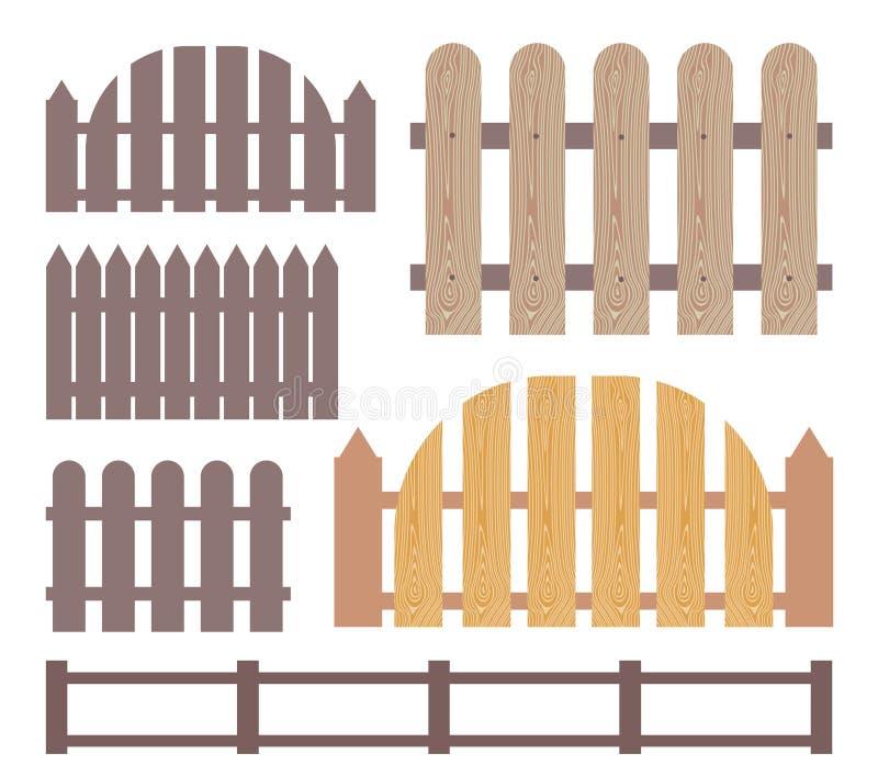 Cerca de madeira abstrata ilustração stock