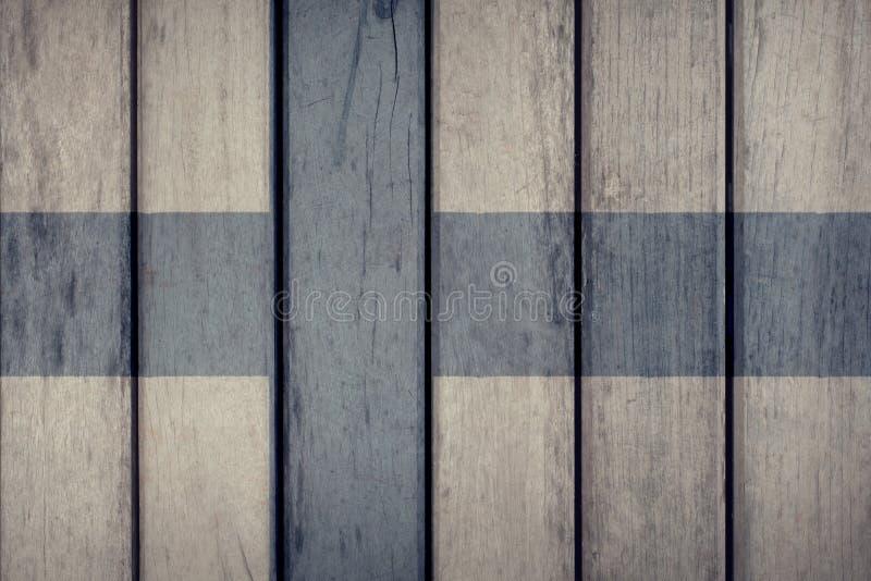 Cerca de madeira da bandeira de Finlandia ilustração stock