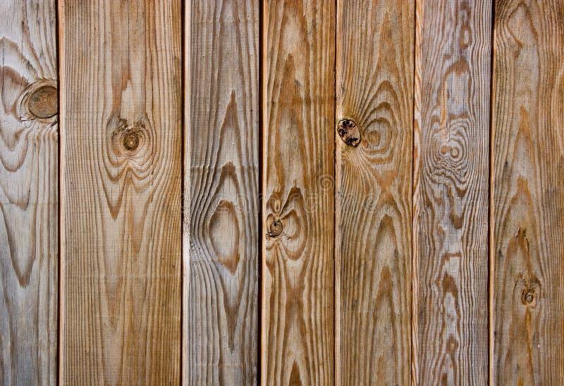 Cerca de madeira de Brown imagens de stock royalty free
