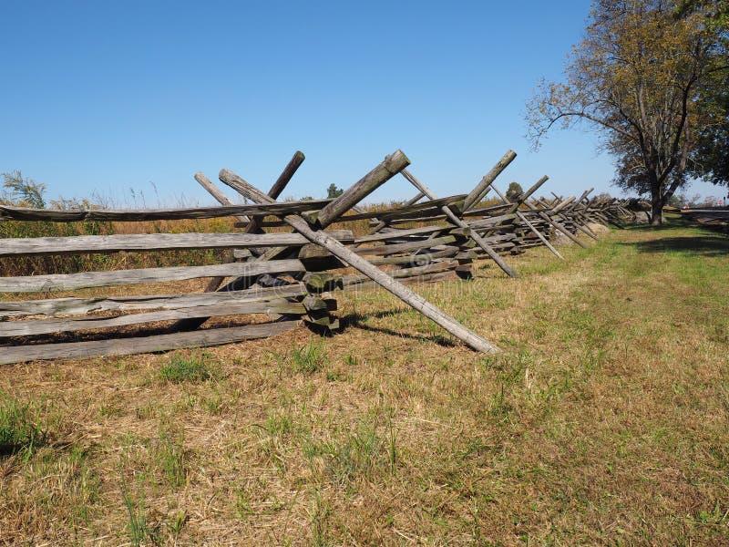 Cerca de madeira em Gettysburg fotografia de stock royalty free