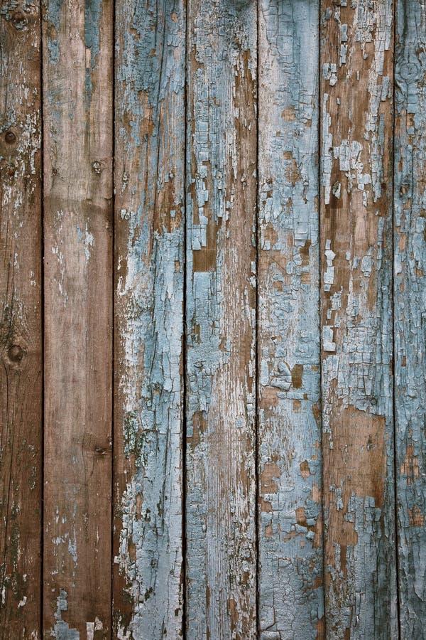 Cerca de madeira pintada envelhecida, resistida naturalmente imagem de stock royalty free