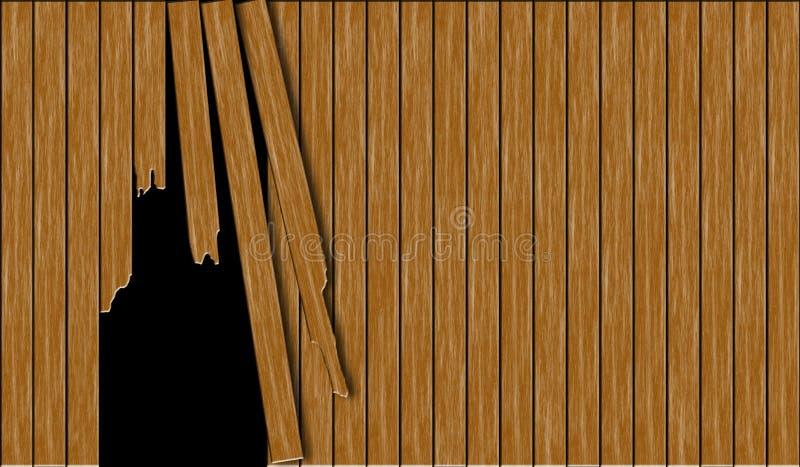 Cerca de madeira quebrada abstrata ilustração royalty free