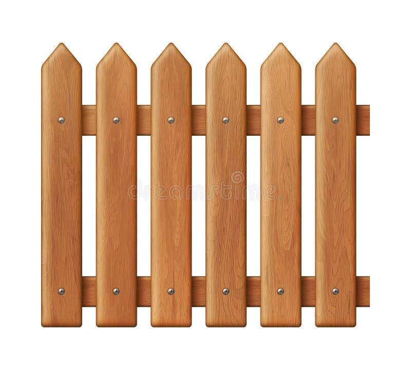 Cerca de madeira sem emenda ilustração royalty free