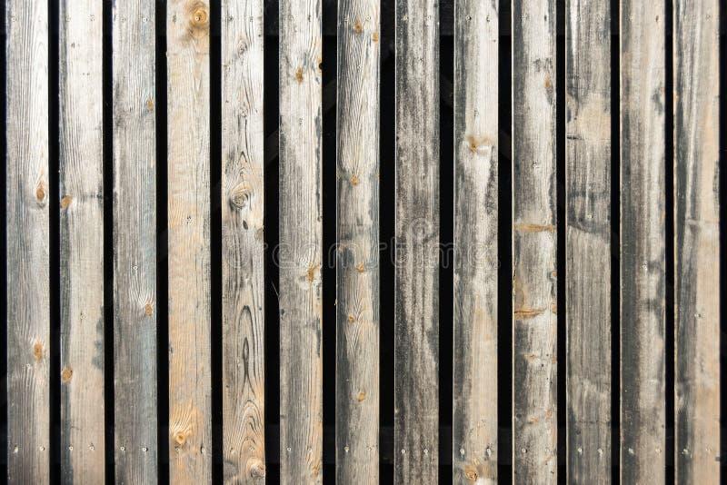 Cerca de madeira velha da textura do fundo das placas foto de stock
