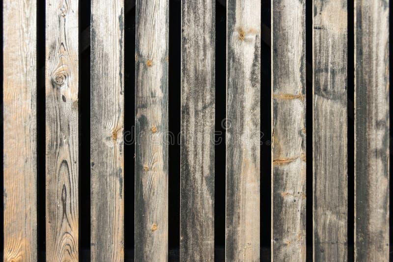 Cerca de madeira velha da textura do fundo das placas imagens de stock royalty free