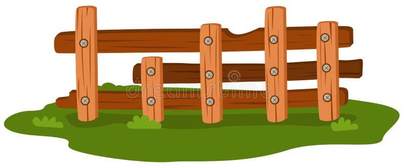 Cerca de madera stock de ilustración